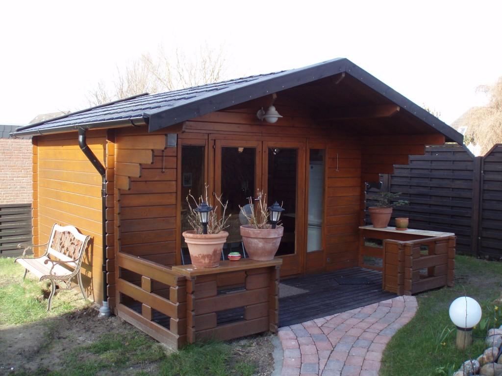 Fertig erstelltes Gartenhaus